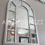 Bergamo Model Gümüş Renk Dekoratif Pencere Ayna-7