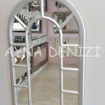 Bergamo Model Gümüş Renk Dekoratif Pencere Ayna-8