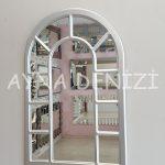 Bergamo Model Gümüş Renk Dekoratif Pencere Ayna-9