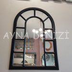 Bergamo Model Siyah Renk Dekoratif Pencere Ayna-10