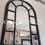 Bergamo Model Siyah Renk Dekoratif Pencere Ayna-12