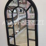 Bergamo Model Siyah Renk Dekoratif Pencere Ayna-15