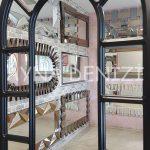 Bergamo Model Siyah Renk Dekoratif Pencere Ayna-19