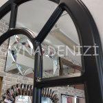 Bergamo Model Siyah Renk Dekoratif Pencere Ayna-20