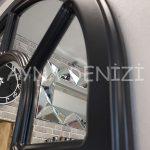 Bergamo Model Siyah Renk Dekoratif Pencere Ayna-22