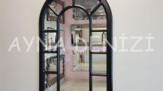 Bergamo Model Siyah Renk Dekoratif Pencere Ayna