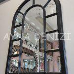 Bergamo Model Siyah Renk Dekoratif Pencere Ayna-7