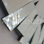 Güneş Duo Silver Model Siyah Gümüş Renk Dekoratif Aynalı Duvar Saati-16