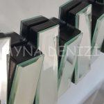 Güneş Duo Silver Model Siyah Gümüş Renk Dekoratif Aynalı Duvar Saati-17
