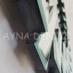 Güneş Duo Silver Model Siyah Gümüş Renk Dekoratif Aynalı Duvar Saati-19