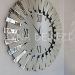 Güneş Duo Silver Model Siyah Gümüş Renk Dekoratif Aynalı Duvar Saati-6