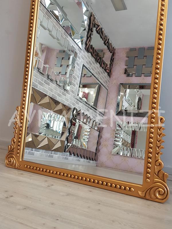 Sinyora Model Altın Renk Boy Aynası-21