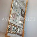 Sinyora Model Altın Renk Boy Aynası-9