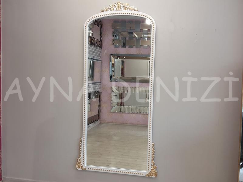 Sinyora Model Beyaz Altın Renk Boy Aynası-1