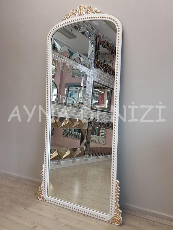 Sinyora Model Beyaz Altın Renk Boy Aynası-10