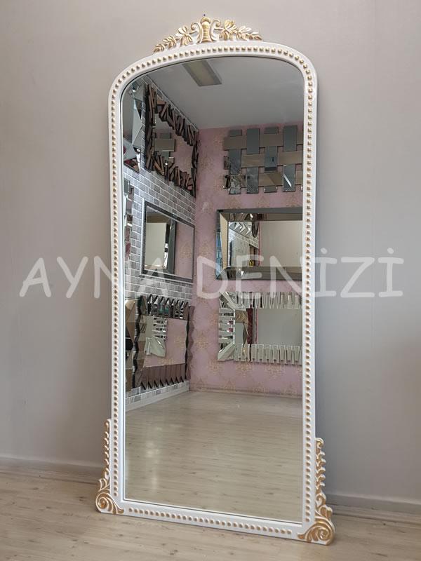 Sinyora Model Beyaz Altın Renk Boy Aynası-12
