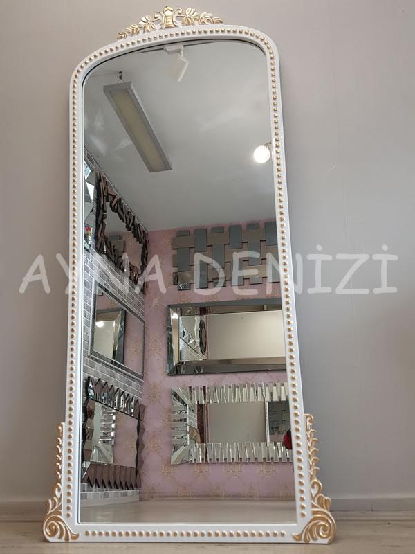 Sinyora Model Beyaz Altın Renk Boy Aynası-13
