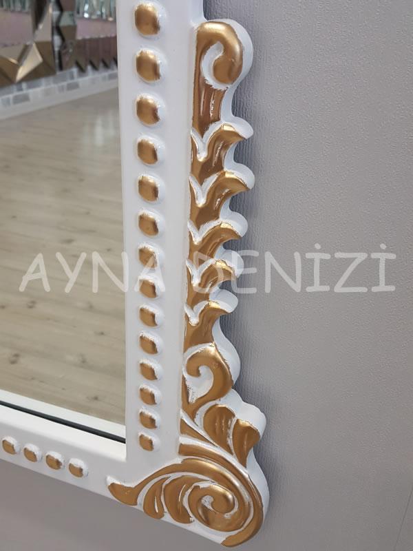 Sinyora Model Beyaz Altın Renk Boy Aynası-14