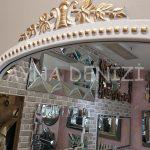 Sinyora Model Beyaz Altın Renk Boy Aynası-17