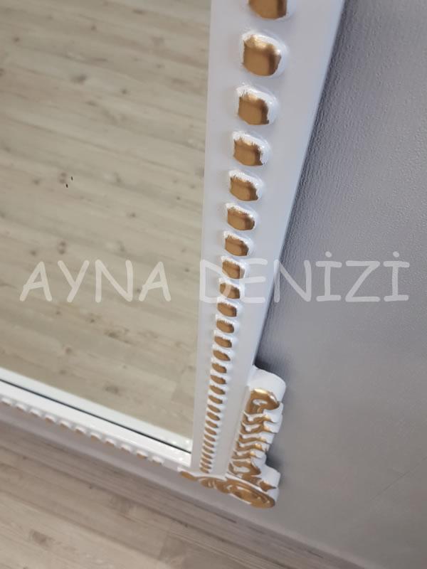 Sinyora Model Beyaz Altın Renk Boy Aynası-18