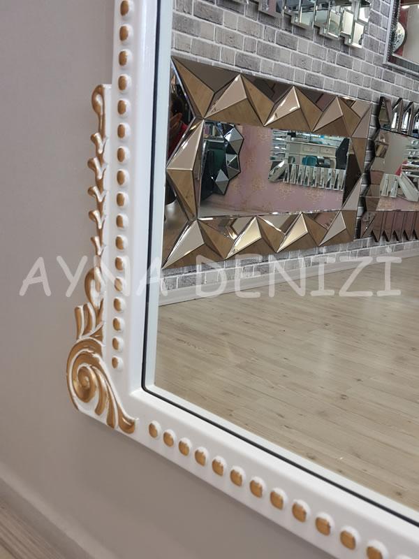 Sinyora Model Beyaz Altın Renk Boy Aynası-20