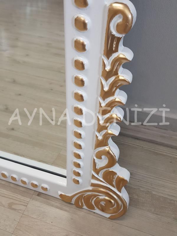 Sinyora Model Beyaz Altın Renk Boy Aynası-22