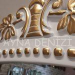 Sinyora Model Beyaz Altın Renk Boy Aynası-23