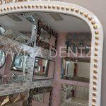 Sinyora Model Beyaz Altın Renk Boy Aynası-24