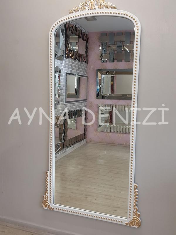 Sinyora Model Beyaz Altın Renk Boy Aynası-4