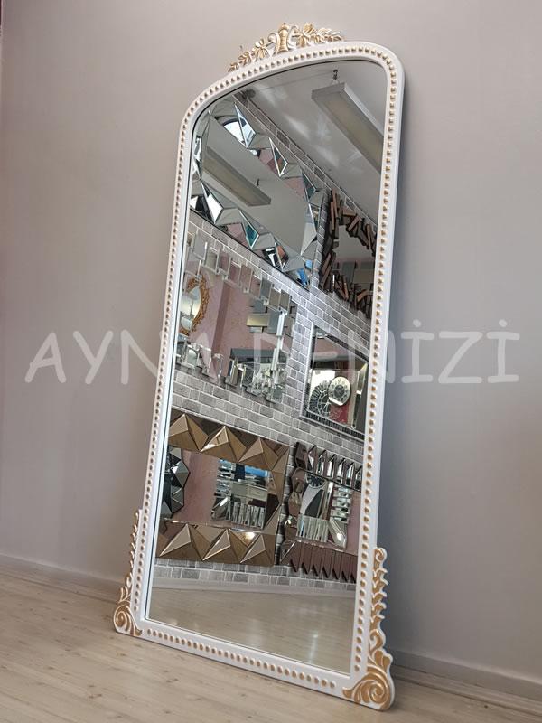 Sinyora Model Beyaz Altın Renk Boy Aynası-7