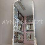 Sinyora Model Beyaz Altın Renk Boy Aynası-9
