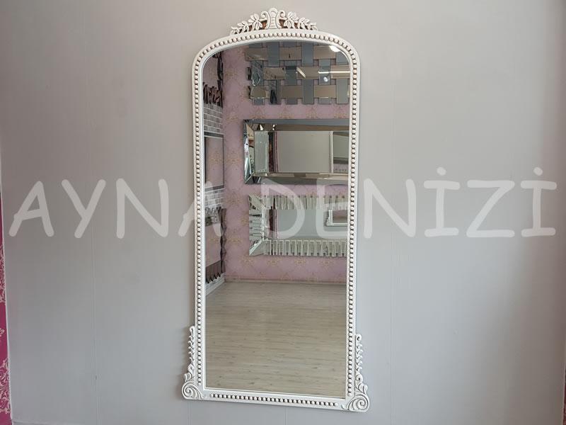 Sinyora Model Eskitme Beyaz Renk Boy Aynası-1