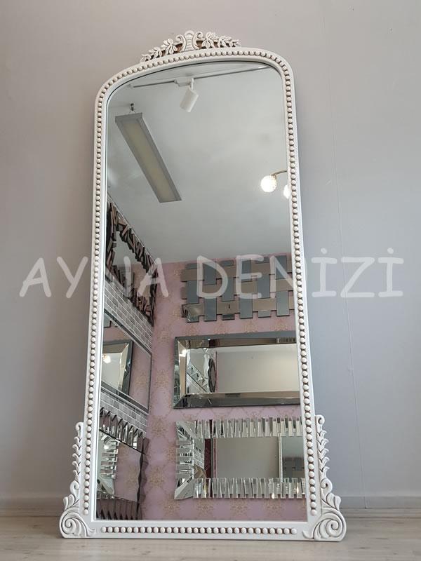 Sinyora Model Eskitme Beyaz Renk Boy Aynası-14