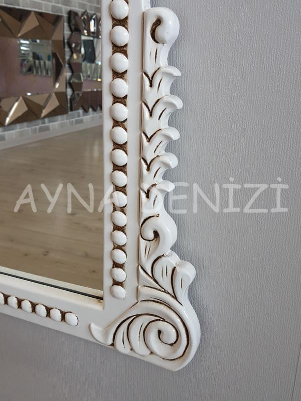 Sinyora Model Eskitme Beyaz Renk Boy Aynası-15