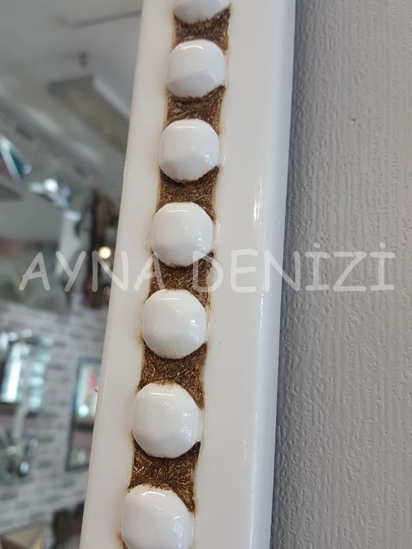 Sinyora Model Eskitme Beyaz Renk Boy Aynası-17