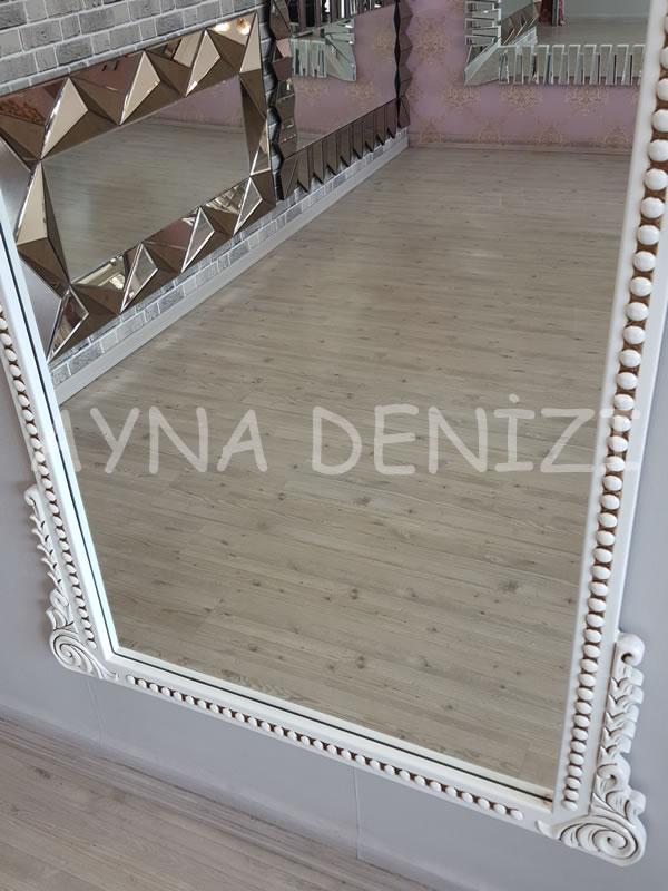 Sinyora Model Eskitme Beyaz Renk Boy Aynası-18