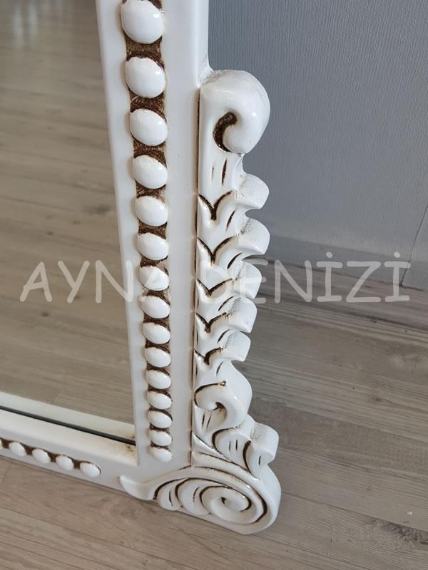 Sinyora Model Eskitme Beyaz Renk Boy Aynası-21