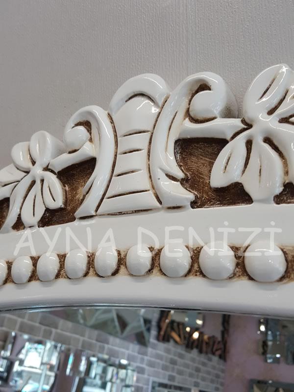 Sinyora Model Eskitme Beyaz Renk Boy Aynası-22