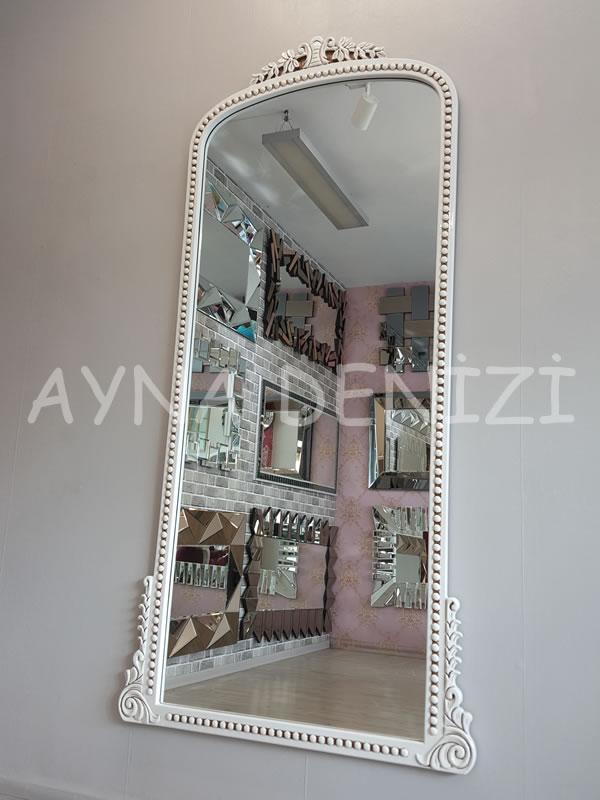Sinyora Model Eskitme Beyaz Renk Boy Aynası-5