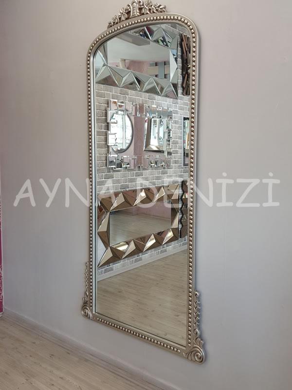 Sinyora Model Gümüş Renk Boy Aynası-10