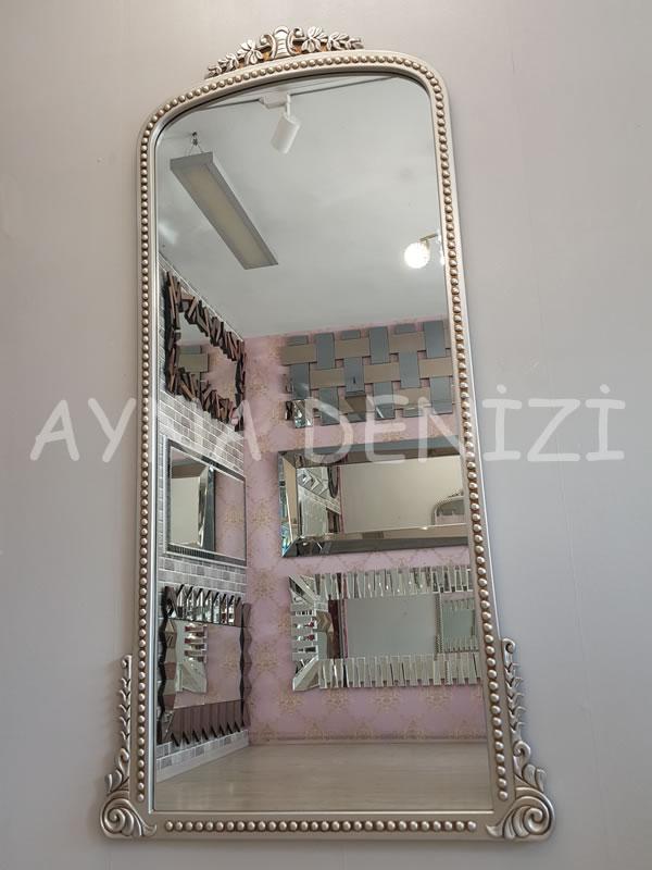 Sinyora Model Gümüş Renk Boy Aynası-11
