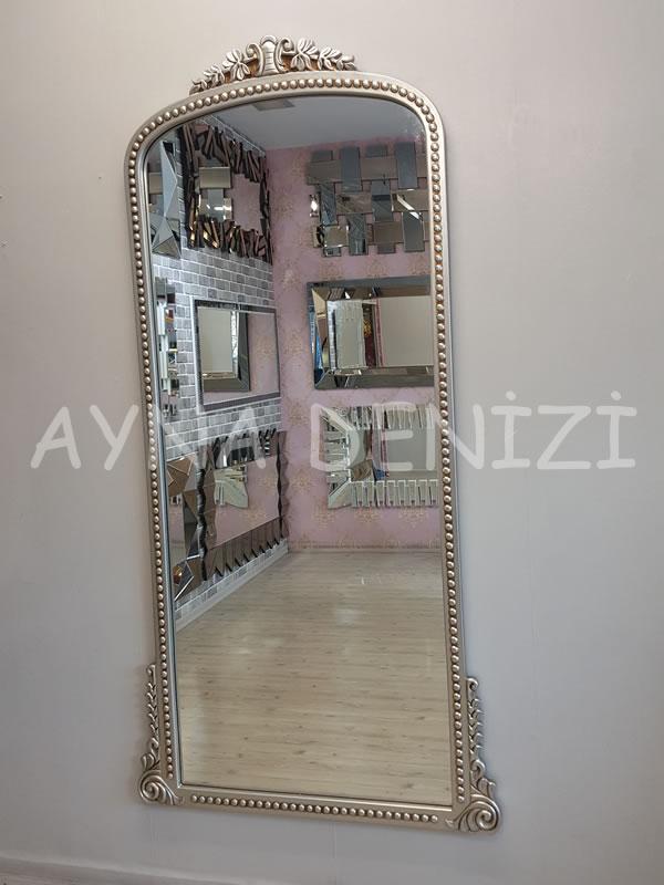 Sinyora Model Gümüş Renk Boy Aynası-13