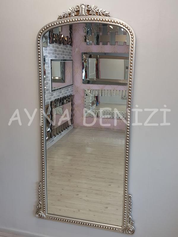 Sinyora Model Gümüş Renk Boy Aynası-14