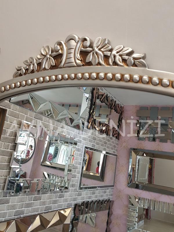 Sinyora Model Gümüş Renk Boy Aynası-15