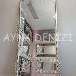 Sinyora Model Gümüş Renk Boy Aynası-4