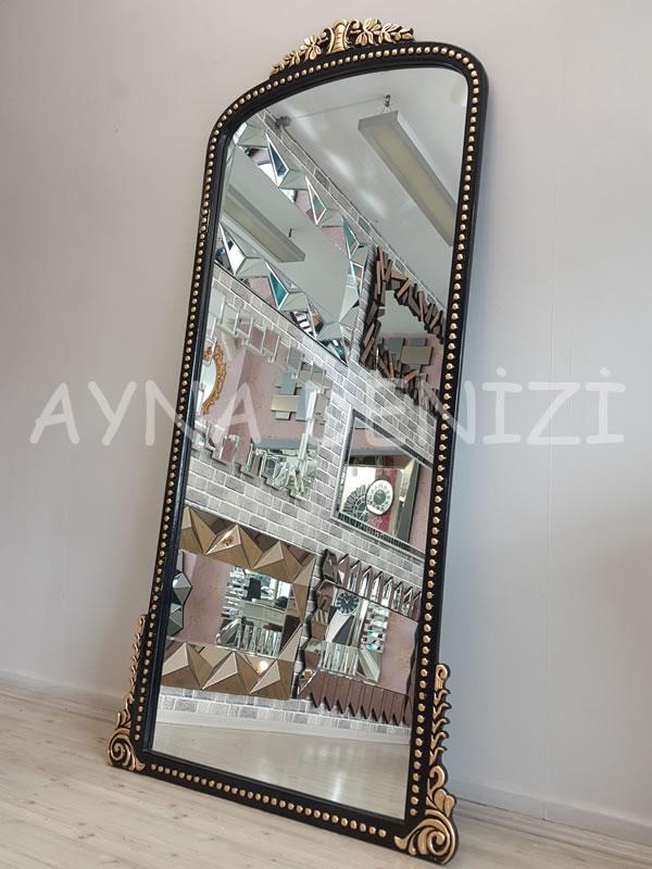 Sinyora Model Siyah Altın Renk Boy Aynası-10