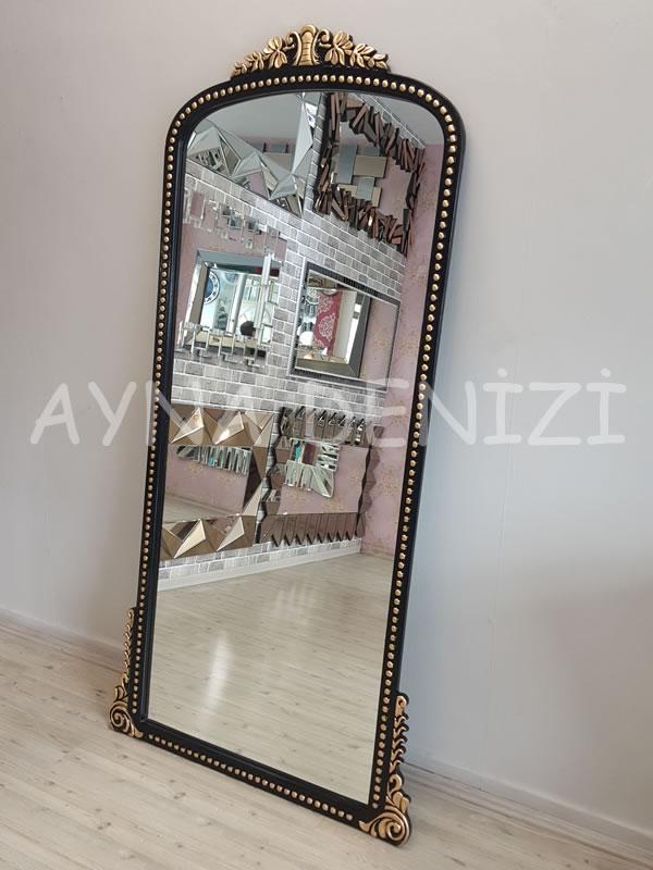 Sinyora Model Siyah Altın Renk Boy Aynası-11
