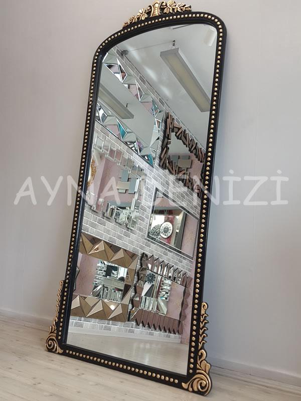 Sinyora Model Siyah Altın Renk Boy Aynası-13