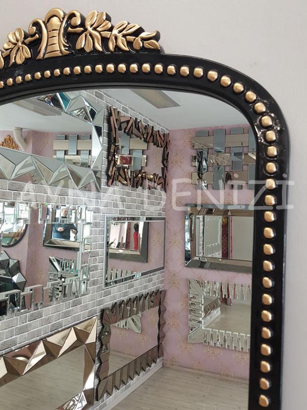 Sinyora Model Siyah Altın Renk Boy Aynası-17