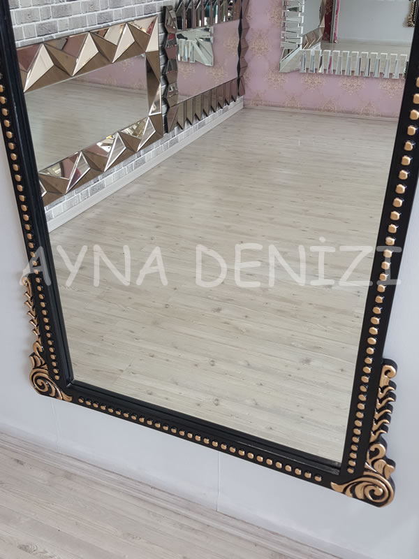 Sinyora Model Siyah Altın Renk Boy Aynası-18